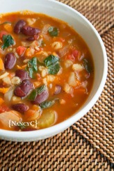 Bean and Barley Soup @ NancyC