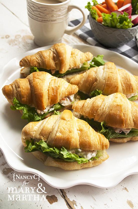 Creamy Veggie Croissants @ NancyC