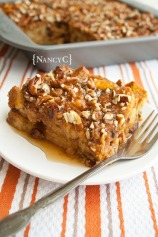 Pumpkin Maple Bread Pudding @ NancyC