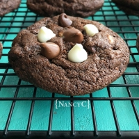 Triple-Chip Chocolate Cookies
