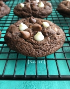 Triple Chip Chocolate Cookies @ NancyC