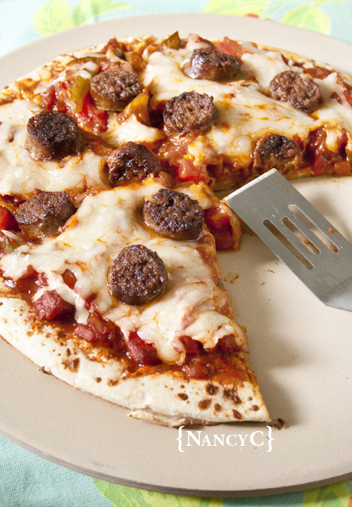 Sweet Italian Sausage and Pepper Pizza2 @ NancyCjpg