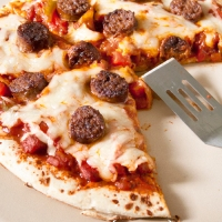 Sweet Italian Sausage and Pepper Pizza