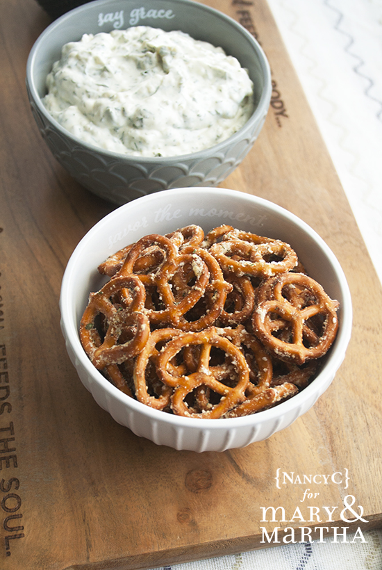 Dilly Pretzels and Veggie Dip @ NancyC