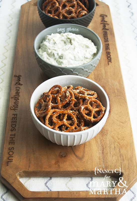 Dilly Pretzels and Veggie Dip2 @ NancyC