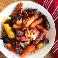 Roasted Carrots, Beets, and Onions