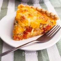 Cheesy Cherry Tomato Quiche