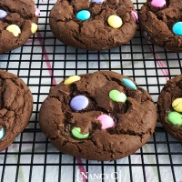 Chocolate M&Ms Cake Mix Cookies