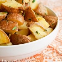 Lemon Thyme Rosemary Roasted Potatoes