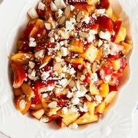Peach-Strawberry Salad with Feta