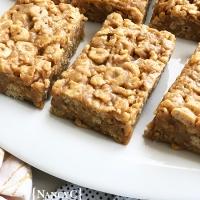 Peanut Butter-Honey Cereal Bars